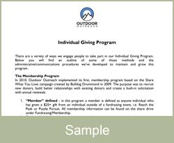Individual Giving Program