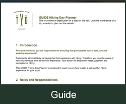 Hiking Day Planner