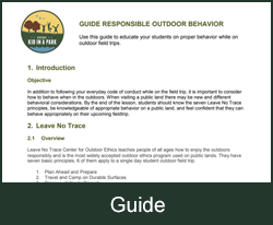 Responsible Outdoor Behavior