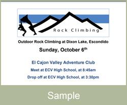 Sample Climbing Flyer