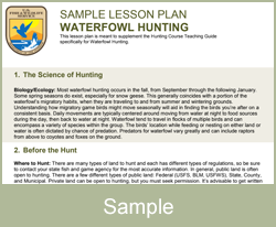 Waterfowl Lesson Plan
