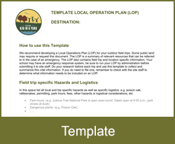 Local Operation Plan